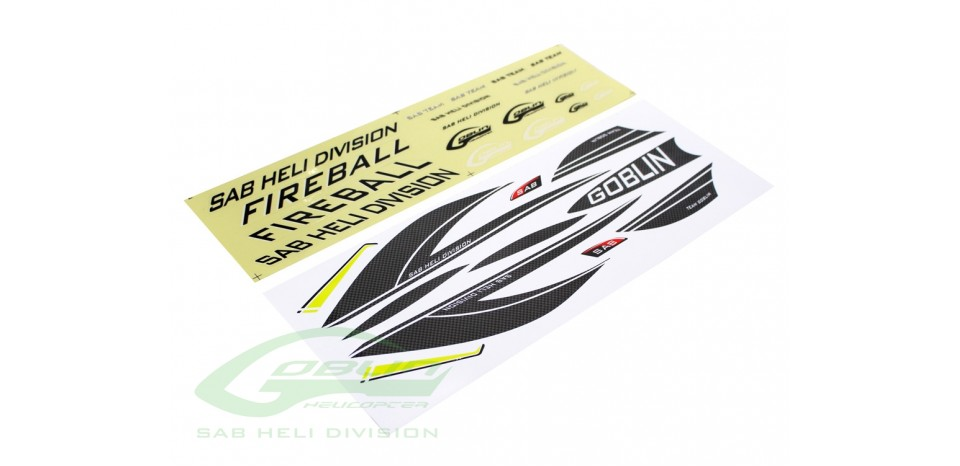 FIREBALL STICKER CARBON